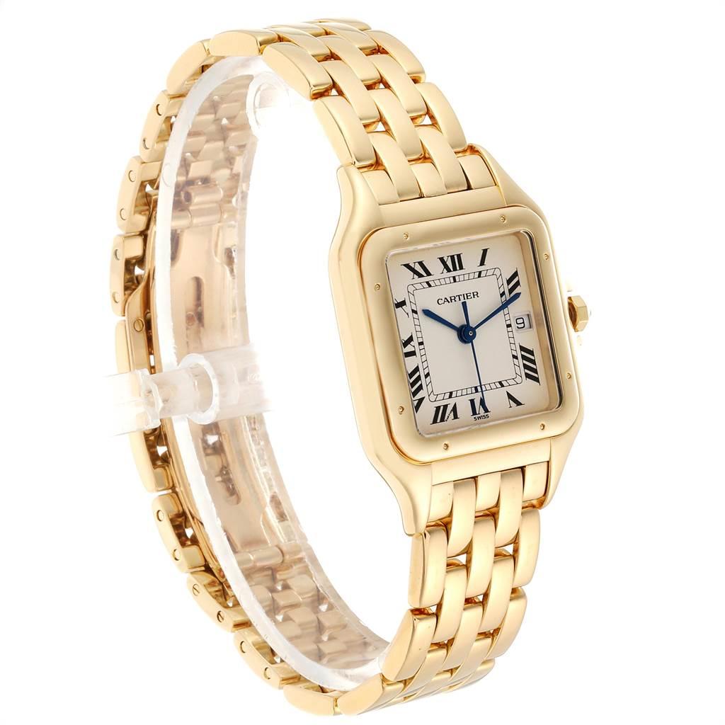23873 Cartier Panthere XL Blue Sapphire Yellow Gold Unisex Watch W25014B9 SwissWatchExpo