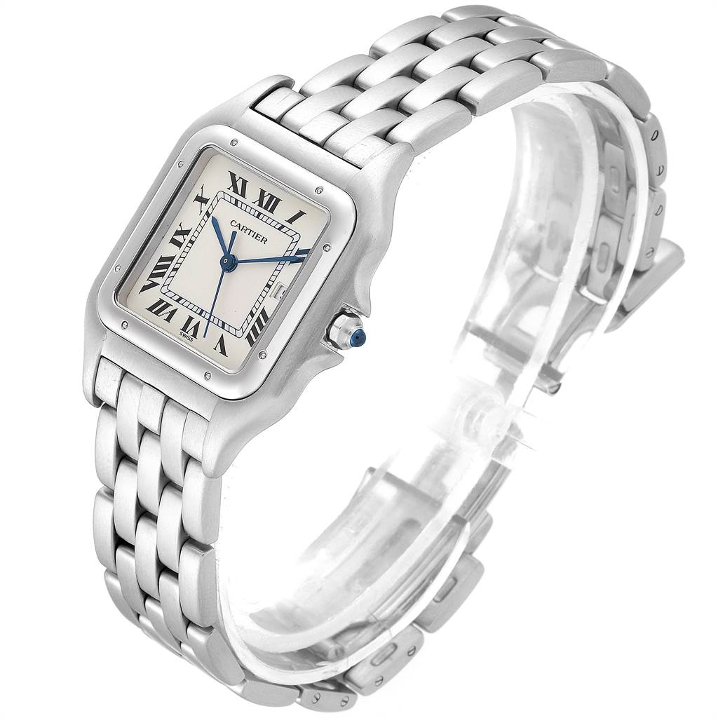 22619 Cartier Panthere Jumbo 29mm Stainless Steel Mens Watch W25032P5 SwissWatchExpo