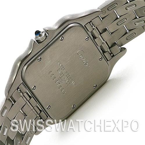 2571 Cartier Panthere Jumbo Stainless Steel Watch W25032P5 SwissWatchExpo