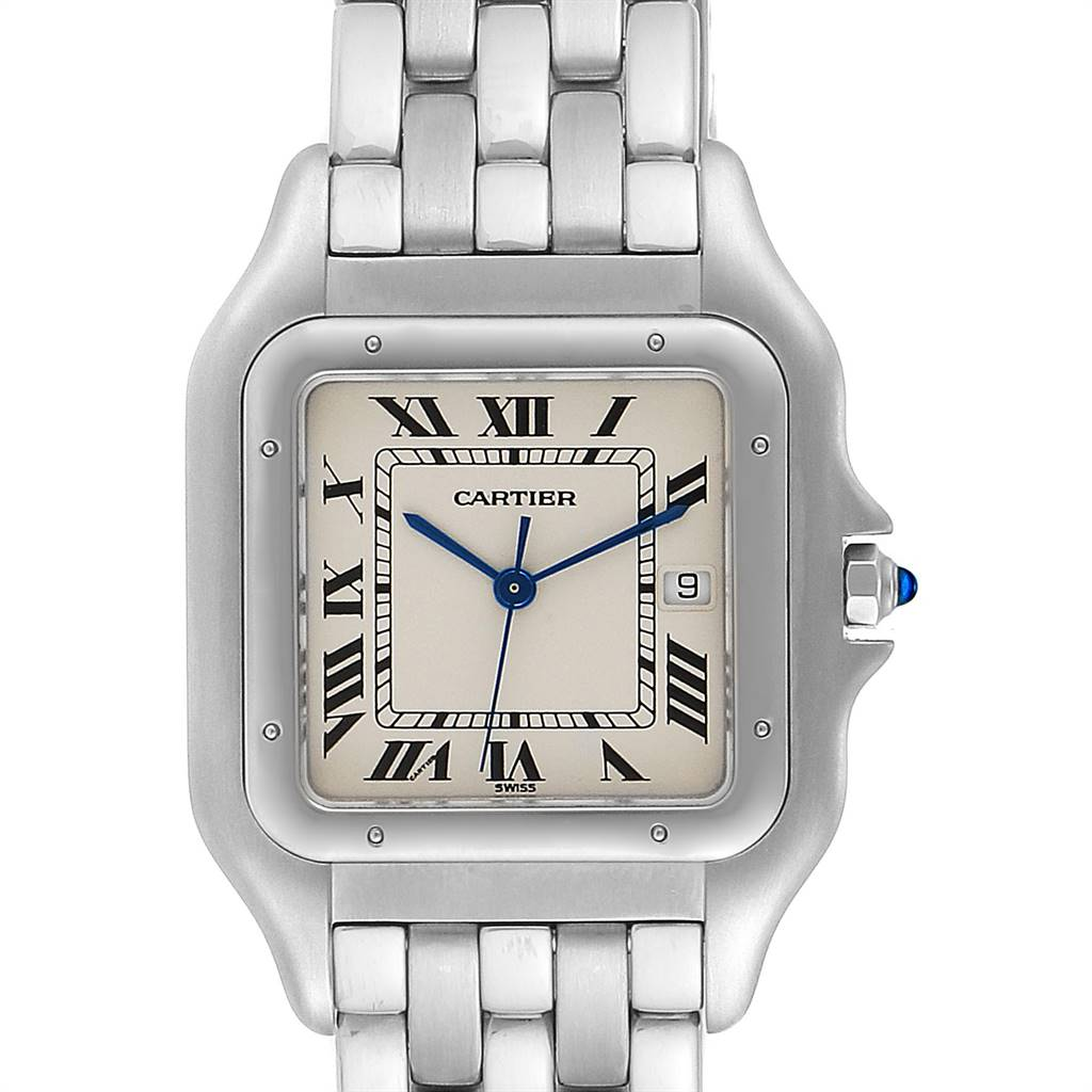 24470 Cartier Panthere Jumbo 29mm Stainless Steel Mens Watch W25032P5 SwissWatchExpo