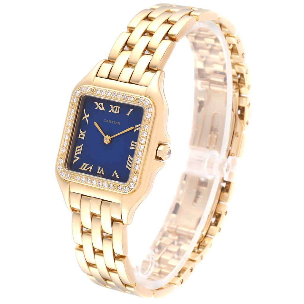 Cartier Panthere XL 18K Yellow Gold Diamond Unisex Watch W25014B9 SwissWatchExpo