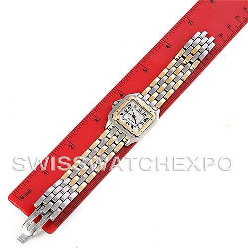 Cartier  Panthere Large Steel 18k Yellow Gold Three Row Watch SwissWatchExpo