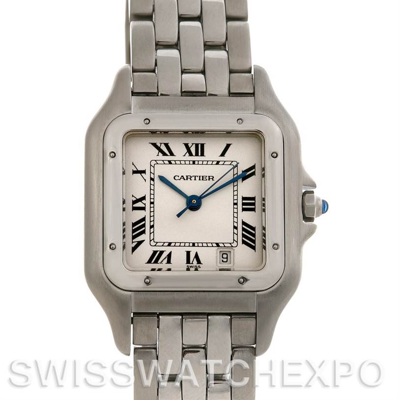 2417 Cartier Panthere Large Stainless Steel Watch W25054P5 SwissWatchExpo