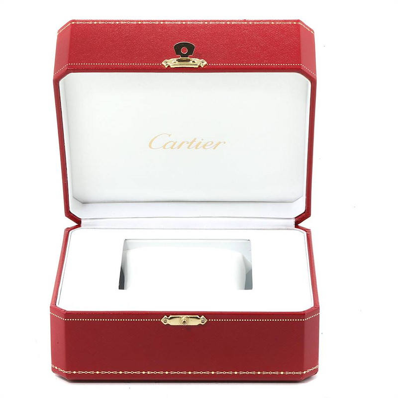 Cartier Cougar Chronograph Yellow Gold Black Dial Unisex Watch 1162 SwissWatchExpo