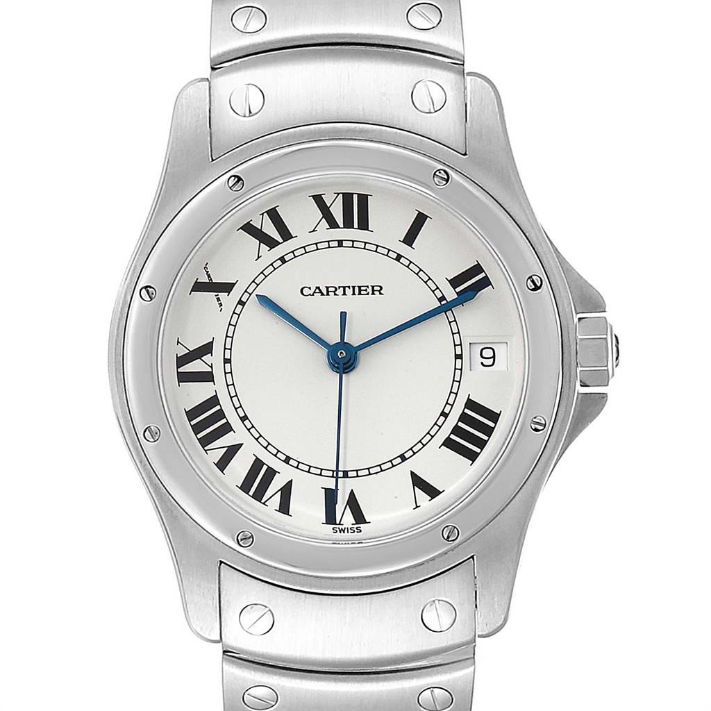 Cartier Santos Ronde 33mm Steel Mens Watch W35002F5