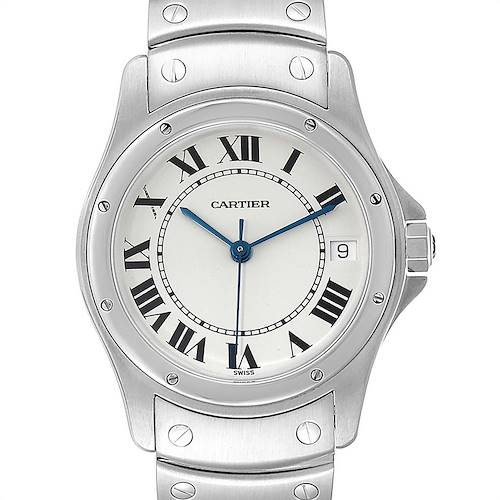 Photo of Cartier Santos Ronde 33mm Steel Mens Watch W35002F5