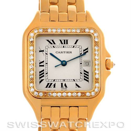 Photo of Cartier Panthere X-Large 18K Yellow Gold Diamond Watch
