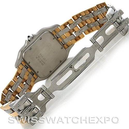 Cartier Panthere Jumbo Steel 18K Yellow Gold Three Row Watch SwissWatchExpo