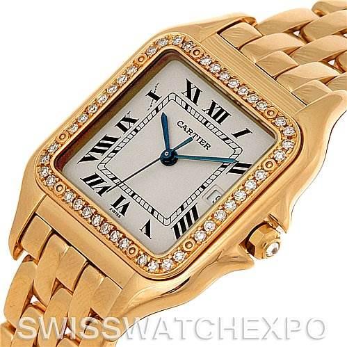 Cartier Panthere X-Large 18K Yellow Gold Diamond Watch SwissWatchExpo
