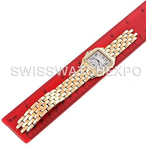 3071 Cartier Panthere X-Large 18K Yellow Gold Diamond Watch W25014B9 SwissWatchExpo