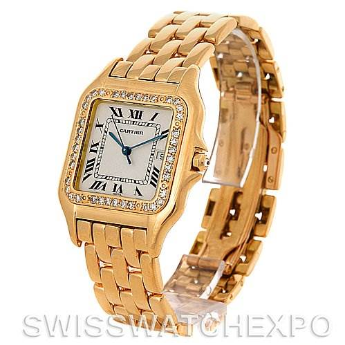 3072 Cartier Panthere Jumbo 18K Yellow Gold Diamond Watch SwissWatchExpo