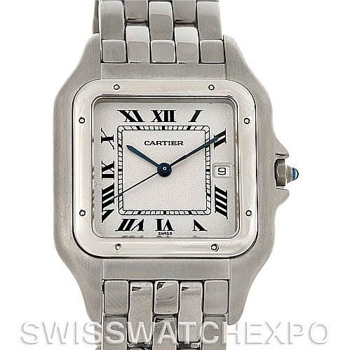 4074 Cartier Panthere Jumbo Stainless Steel Watch SwissWatchExpo
