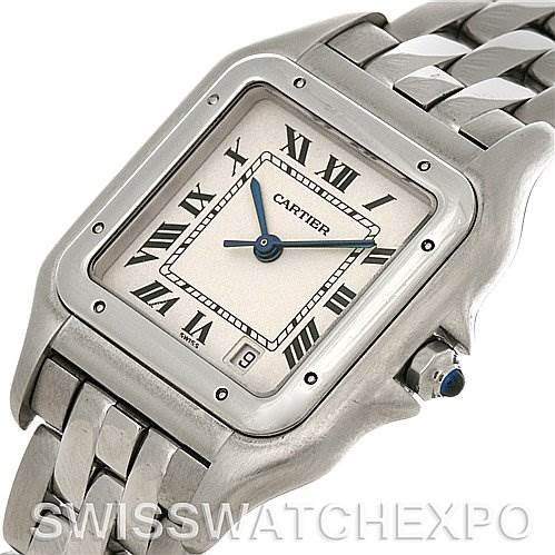 4204 Cartier Panthere Large Stainless Steel Watch W25054P5 SwissWatchExpo