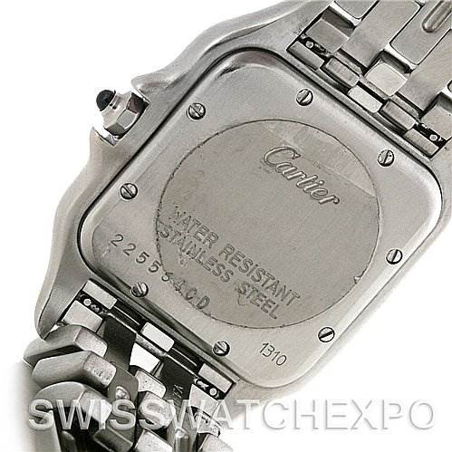 Cartier Panthere Large Stainless Steel Watch W25054P5 SwissWatchExpo