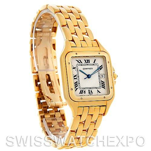 4611 Cartier Panthere X-Large 18k Yellow Gold Watch W25014B9 SwissWatchExpo