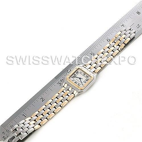 4653 Cartier Panthere Large Steel 18k Yellow Gold Three Row Watch SwissWatchExpo