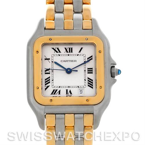 Photo of Cartier Panthere Large Steel 18k Yellow Gold Three Row Watch