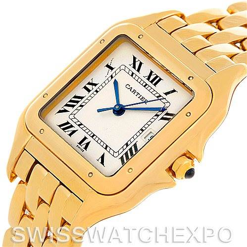 5439 Cartier Panthere X-Large 18k Yellow Gold Watch W25014B9 SwissWatchExpo