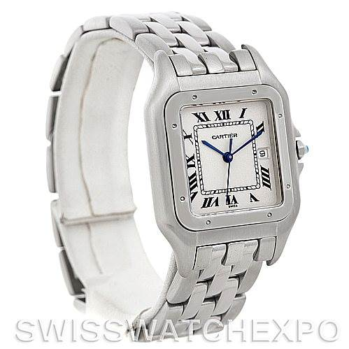 5039 Cartier Panthere Jumbo Stainless Steel Watch W25032P5 SwissWatchExpo