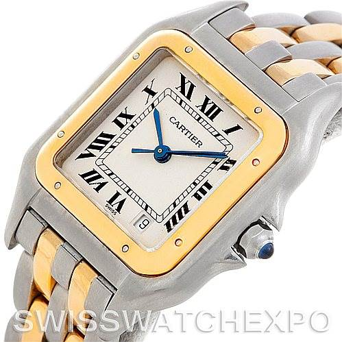 5184 Cartier Panthere Large Steel 18K Yellow Gold Watch W25028B6 SwissWatchExpo