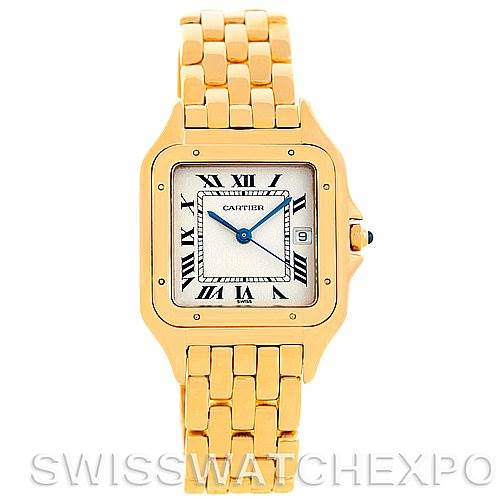 5553 Cartier Panthere X-Large 18k Yellow Gold Watch W25014B9 SwissWatchExpo