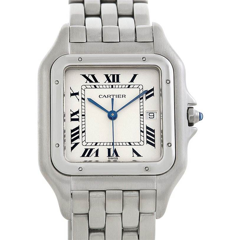 5821 Cartier Panthere Jumbo Stainless Steel Watch W25032P5 SwissWatchExpo