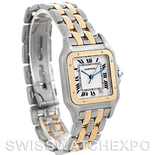 5476 Cartier Panthere Large Steel 18K Yellow Gold Watch W25028B6 SwissWatchExpo