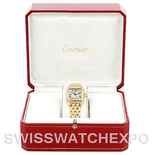 5841 Cartier Panthere XL 18K Yellow Gold Diamond Watch SwissWatchExpo
