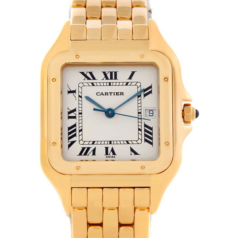 5915 Cartier Panthere XL 18k Yellow Gold Watch W25014B9 SwissWatchExpo