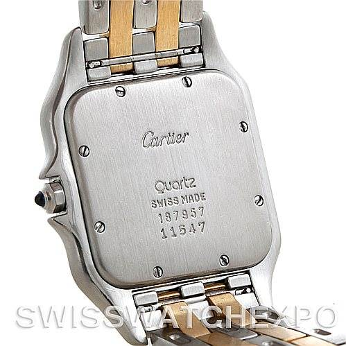 5537 Cartier Panthere Jumbo Steel 18K Yellow Gold Two Row Watch SwissWatchExpo