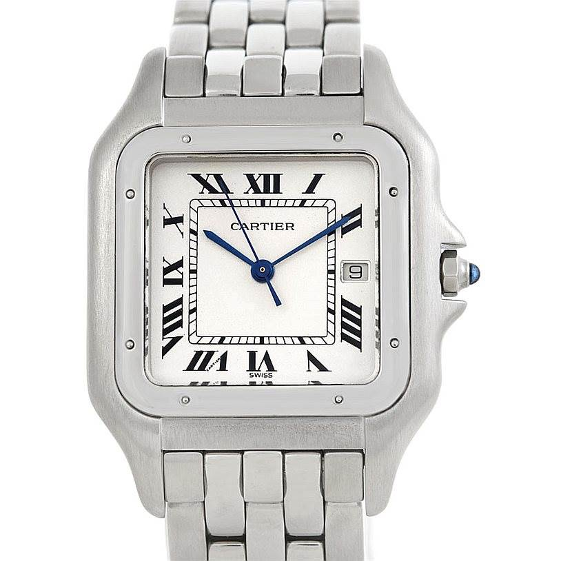 5862 Cartier Panthere Jumbo Stainless Steel Watch W25032P5 SwissWatchExpo