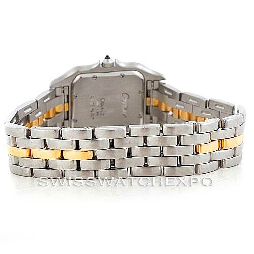 6394 Cartier Panthere Large Steel One Row 18K Yellow Gold Watch SwissWatchExpo