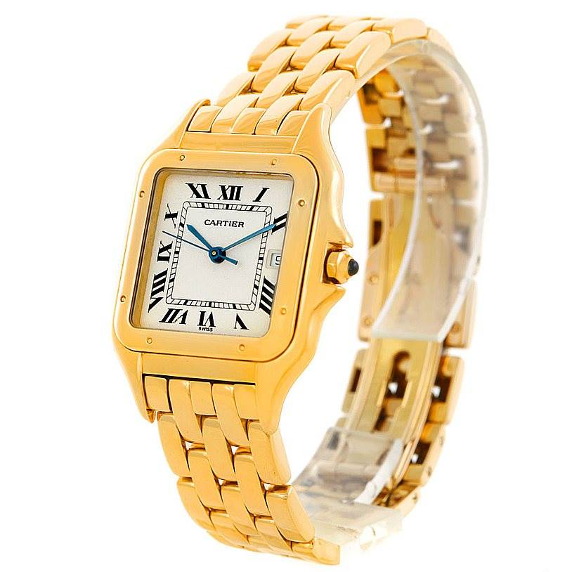 6647 Cartier Panthere XL 18k Yellow Gold Watch W25014B9 SwissWatchExpo