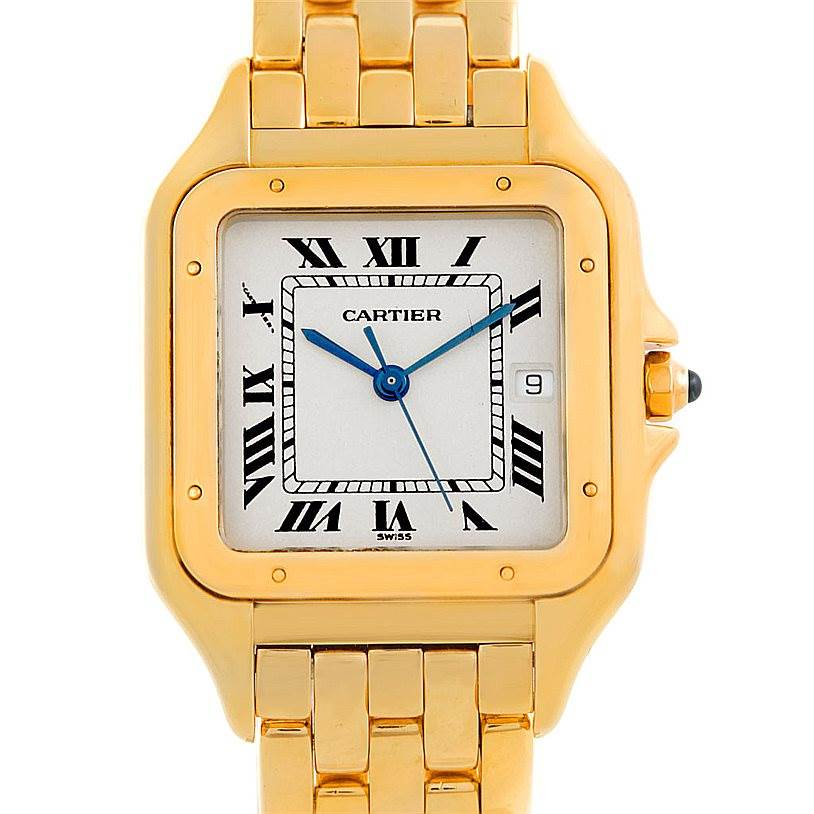6822 Cartier Panthere XL 18k Yellow Gold Watch W25014B9 SwissWatchExpo