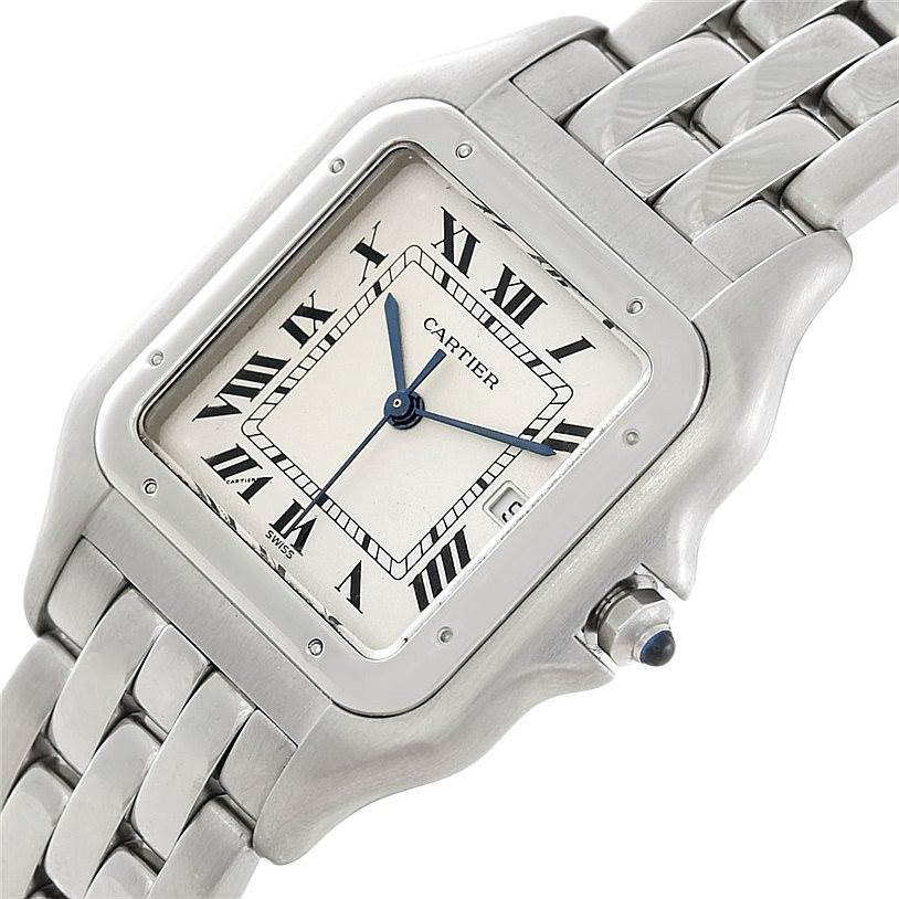 6510 Cartier Panthere Jumbo Stainless Steel Watch W25032P5 SwissWatchExpo