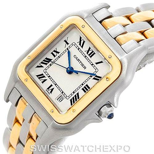 6831 Cartier Panthere Large Steel 18K Yellow Gold Watch W25028B6 SwissWatchExpo