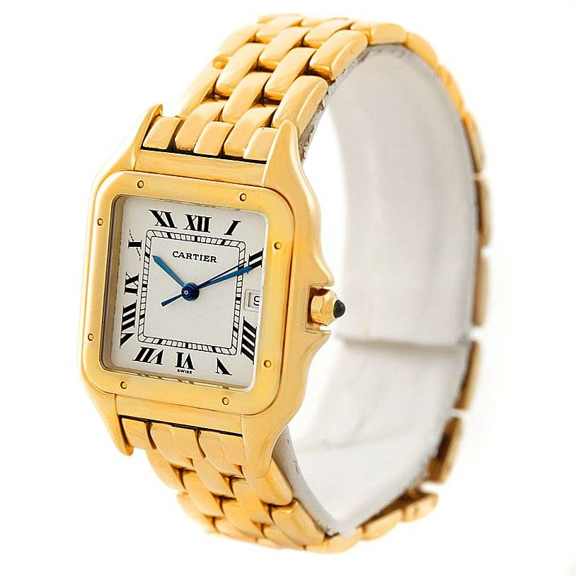 7322 Cartier Panthere XL 18k Yellow Gold Watch W25014B9 SwissWatchExpo
