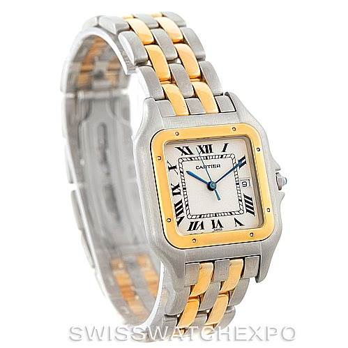 7474 Cartier Panthere Jumbo Steel 18K Yellow Gold Two Row Watch SwissWatchExpo