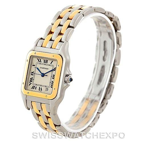 7613x Cartier Panthere Large Steel 18K Yellow Gold Watch W25028B6 SwissWatchExpo