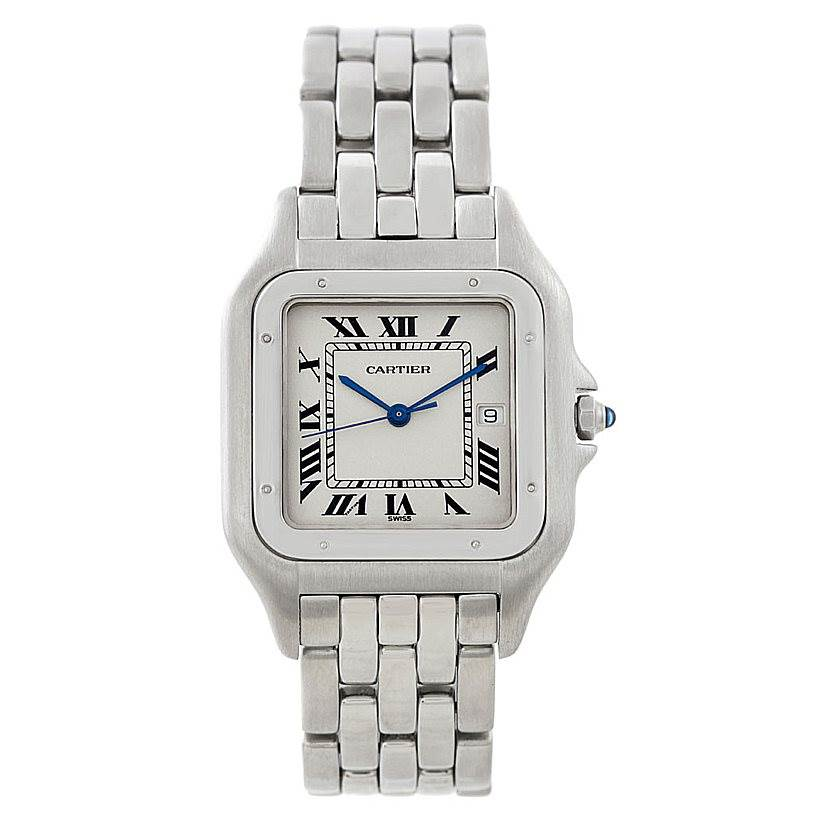 7326 Cartier Panthere Jumbo Stainless Steel Watch W25032P5 SwissWatchExpo