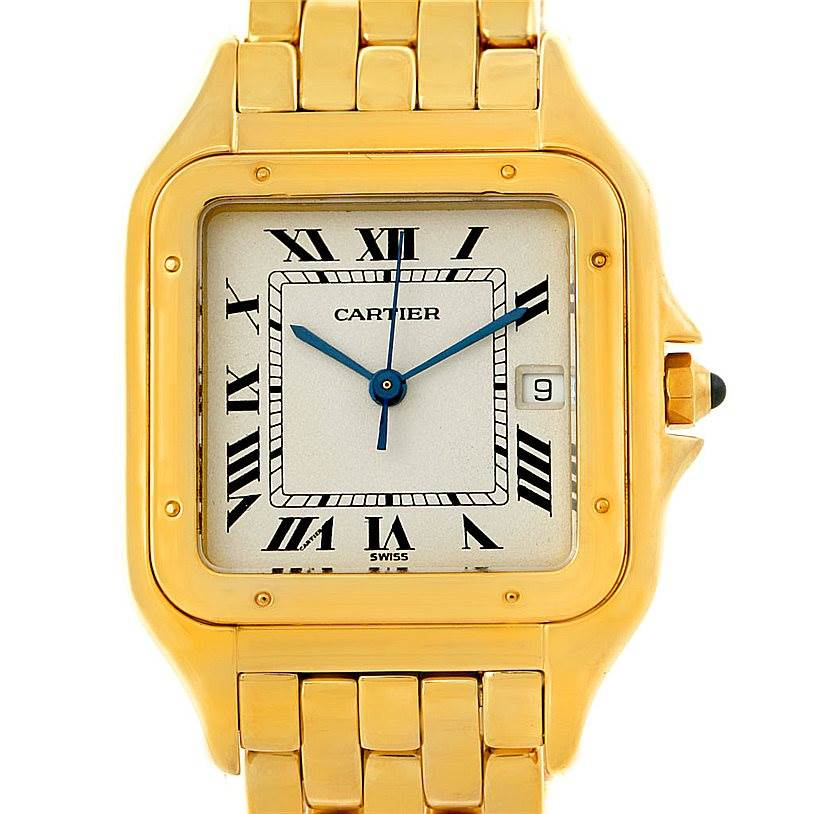 7478 Cartier Panthere XL 18k Yellow Gold Watch W25014B9 SwissWatchExpo