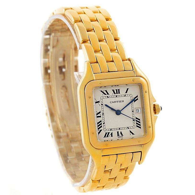 7605 Cartier Panthere XL 18k Yellow Gold Watch W25014B9 SwissWatchExpo