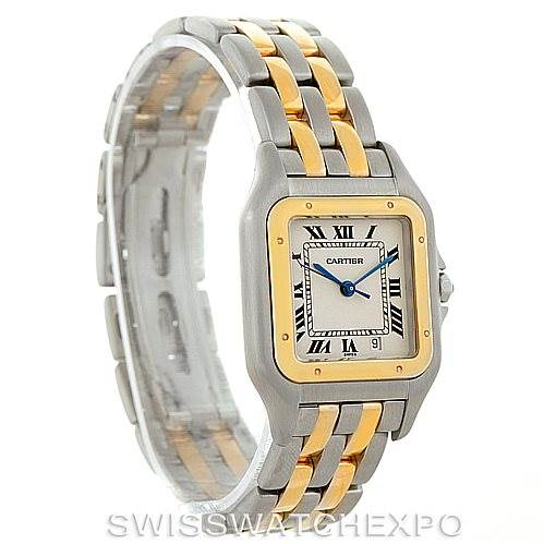 6343 Cartier Panthere Large Steel 18K Yellow Gold Watch W25028B6 SwissWatchExpo