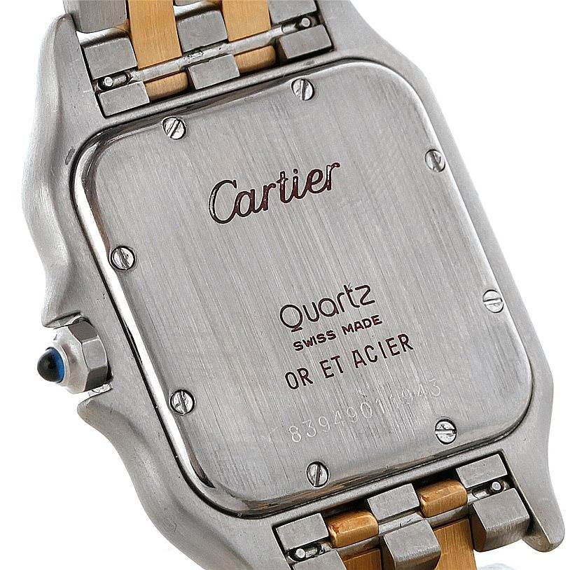 8232 Cartier Panthere Large Steel 18K Yellow Gold Watch W25028B6 SwissWatchExpo