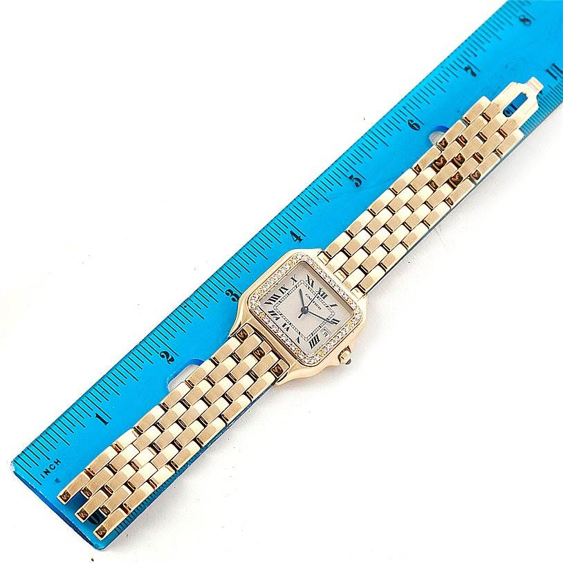 7992 Cartier Panthere Jumbo 18K Yellow Gold Diamond Watch SwissWatchExpo