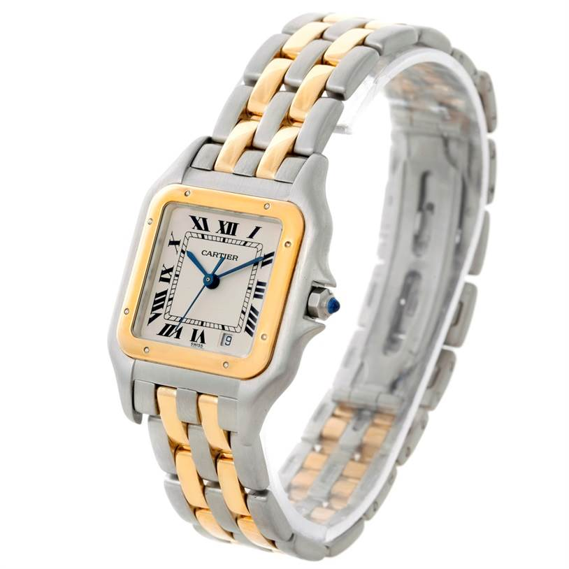 8314X Cartier Panthere Large Steel 18K Yellow Gold Watch W25028B6 SwissWatchExpo