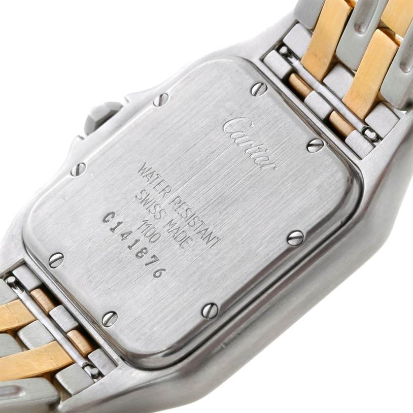 8655 Cartier Panthere Large Steel 18K Yellow Gold Watch W25028B6 SwissWatchExpo