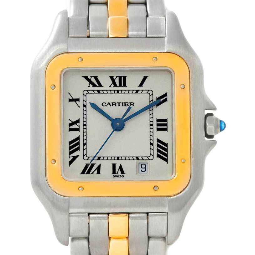 8711 Cartier Panthere Large Steel 18K Yellow Gold Watch W25028B5 SwissWatchExpo