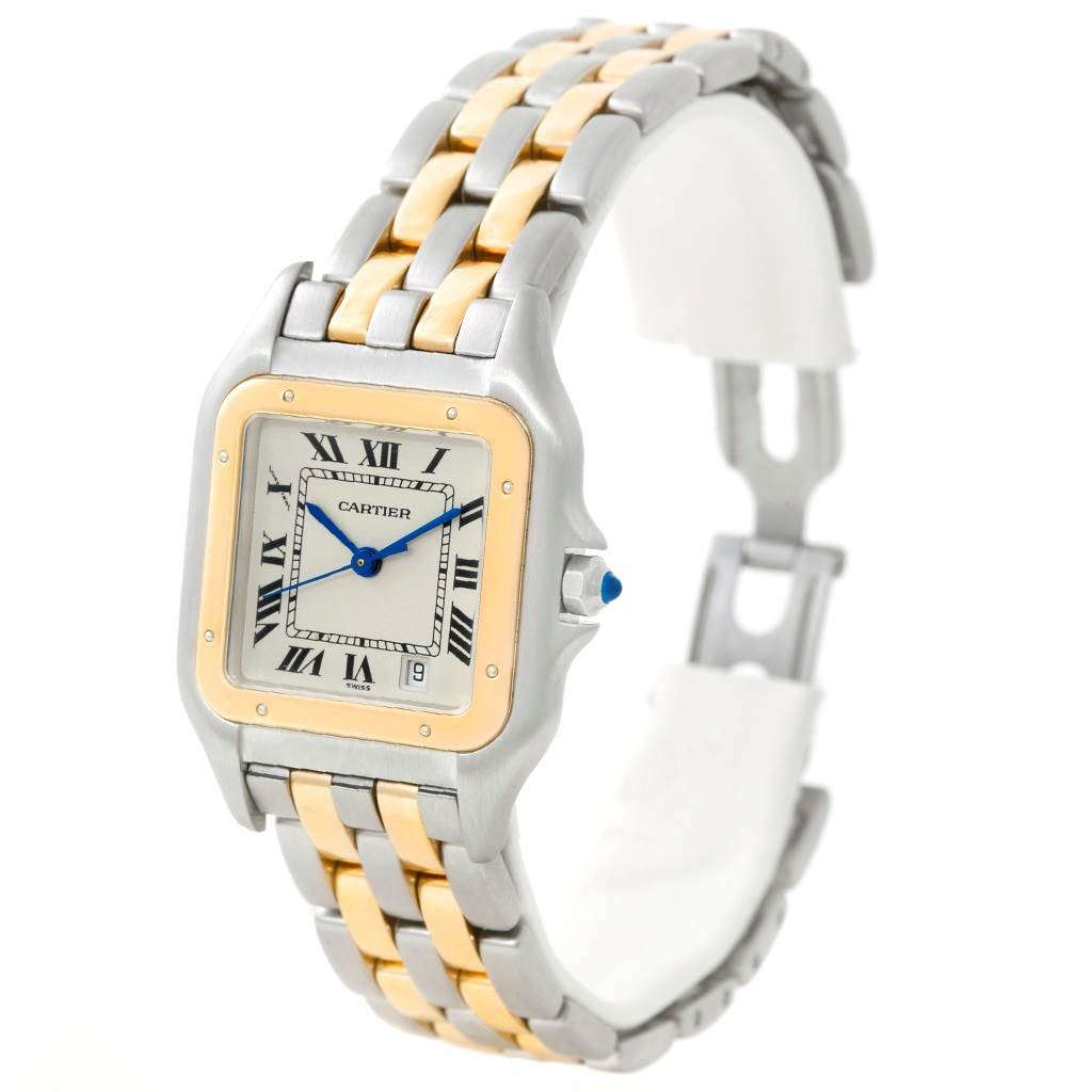 8712 Cartier Panthere Large Steel 18K Yellow Gold Watch W25028B6 SwissWatchExpo