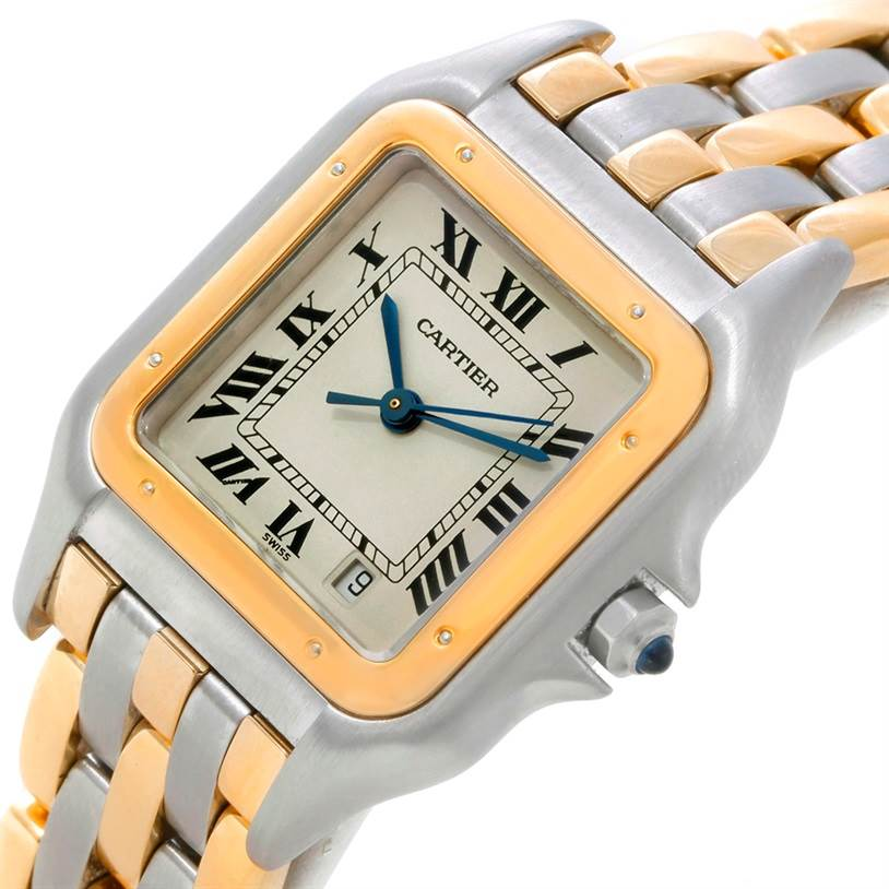 8714 Cartier Panthere Large Steel 18K Yellow Gold Watch W25028B8 SwissWatchExpo